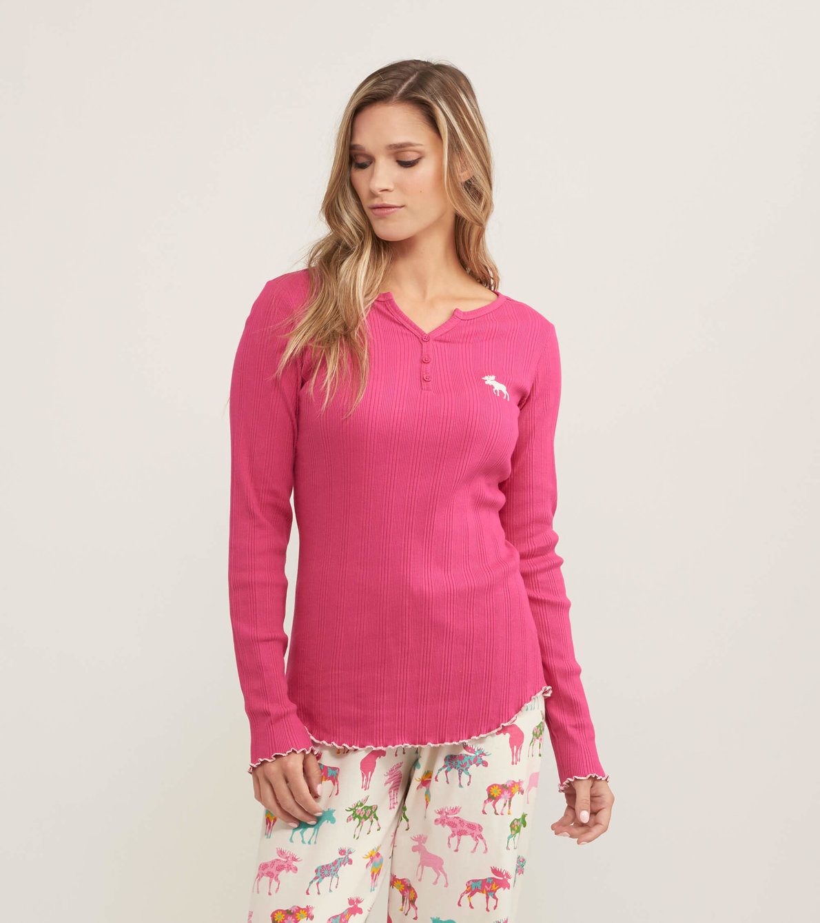 View larger image of Moose Women's Rib Long Sleeve Henley