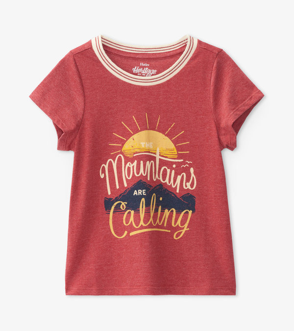 Mountains are Calling Kids Heritage Tee