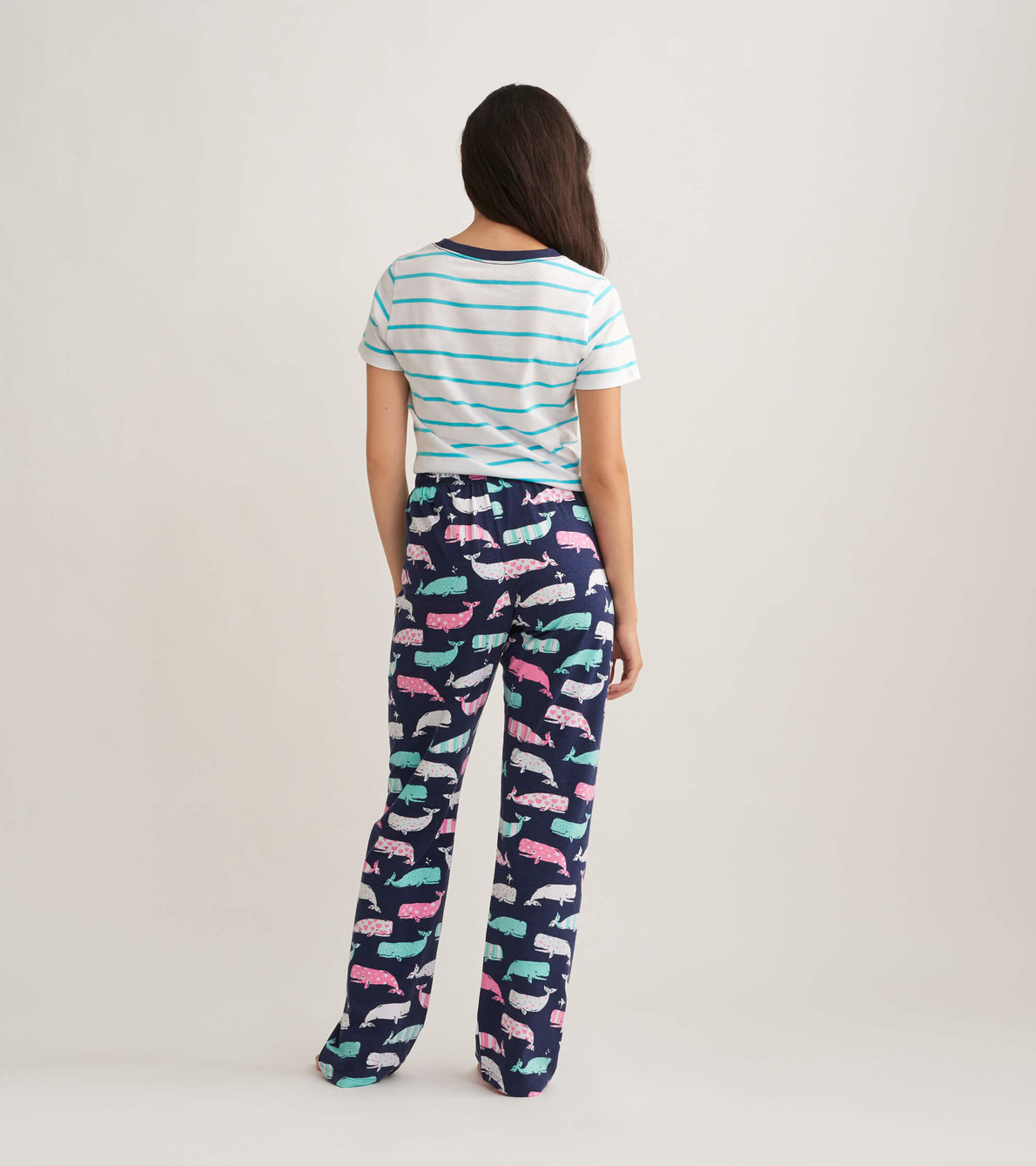 View larger image of Nautical Whales Women's Jersey Pajama Pants