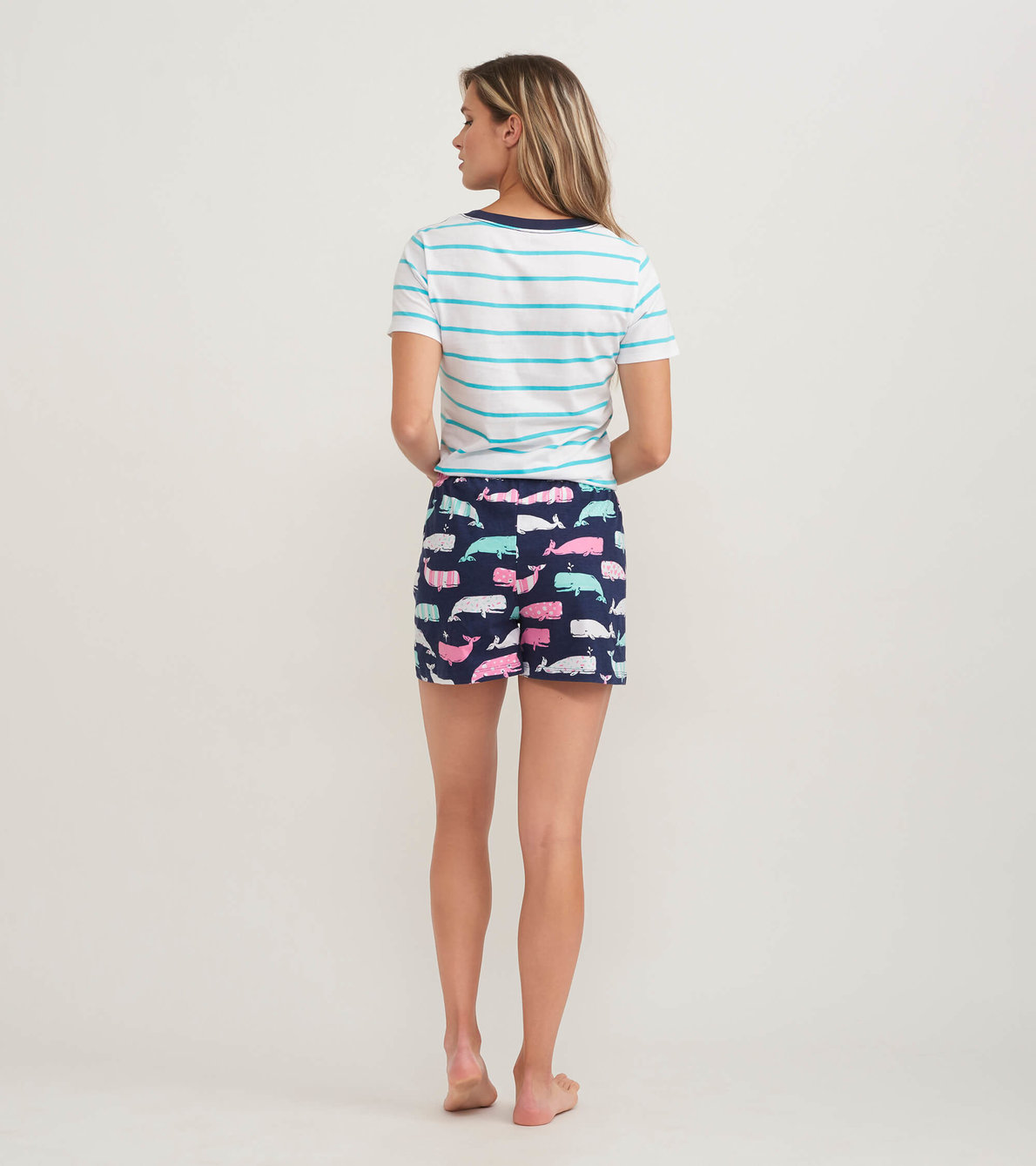View larger image of Nautical Whales Women's Pajama Tee