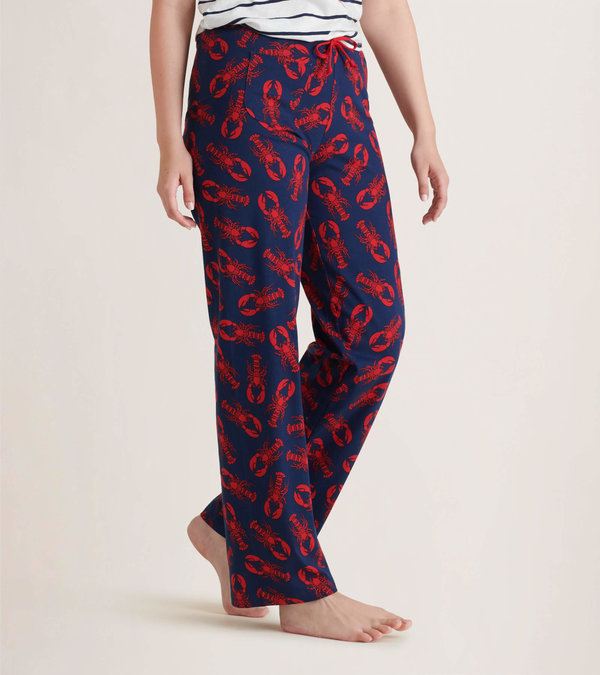 Navy Lobster Women's Jersey Pajama Pants