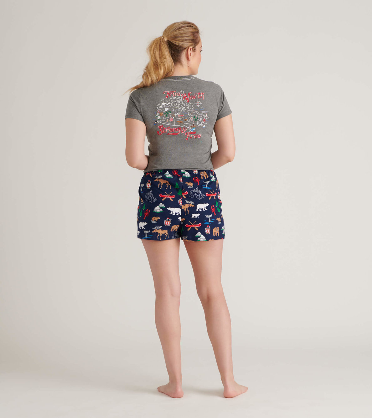 View larger image of Navy Lobsters Women's Tee and Pants Pajama Separates