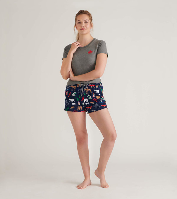 Navy Lobsters Women's Tee and Pants Pajama Separates