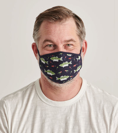 Non-Medical Reusable Adult Face Mask - Bass and Lures
