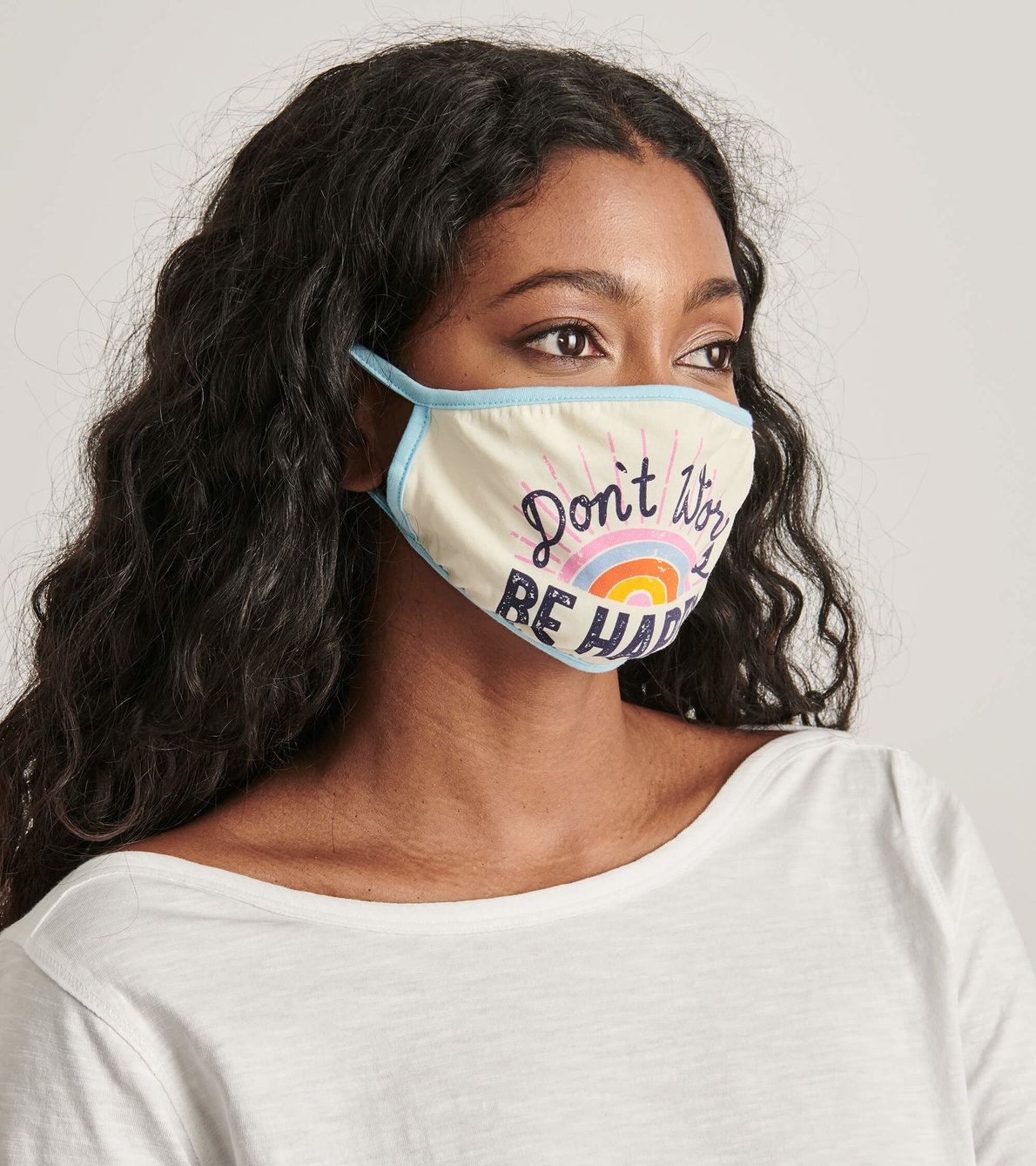 View larger image of Non-Medical Reusable Adult Face Mask - Be Happy