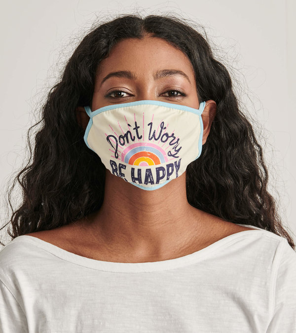 Non-Medical Reusable Adult Face Mask - Be Happy