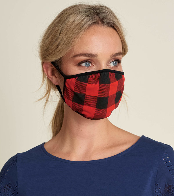 Non-Medical Reusable Adult Face Mask - Buffalo Plaid