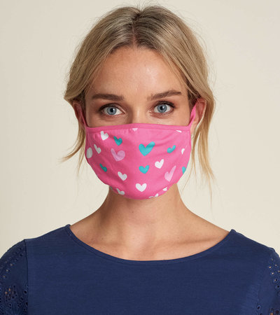 Non-Medical Reusable Adult Face Mask - Hearts