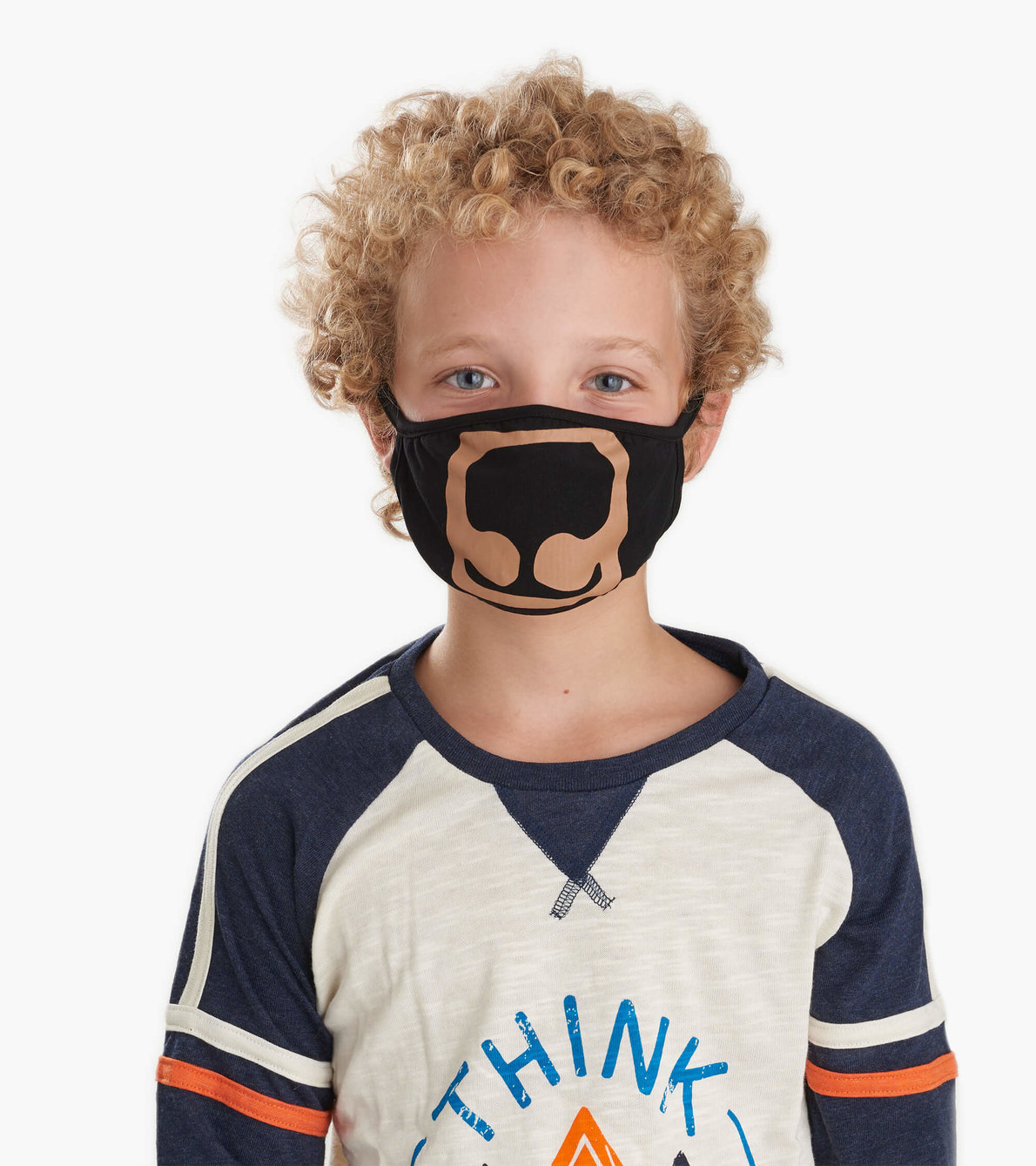 View larger image of Non-Medical Reusable Youth Face Mask (ages 6-10) - Bear
