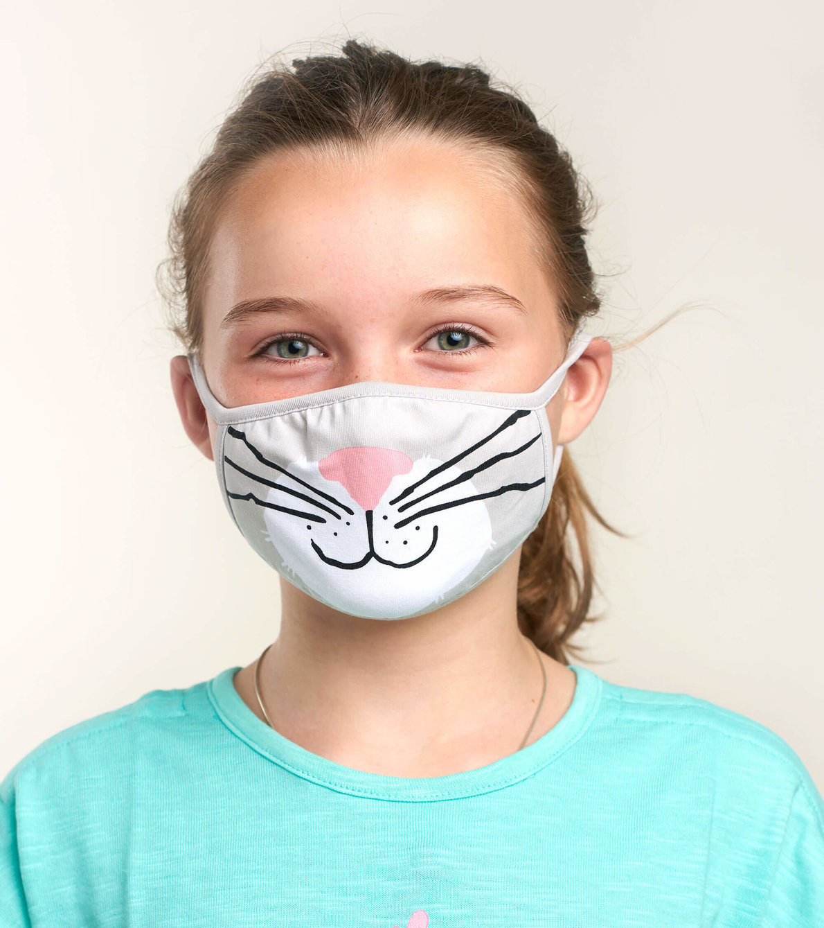 View larger image of Non-Medical Reusable Youth Face Mask (ages 6-10) - Cat
