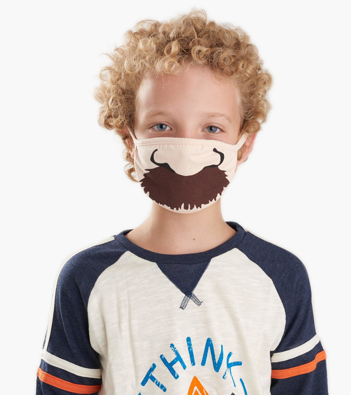 View larger image of Non-Medical Reusable Youth Face Mask (ages 6-10) - Moustache