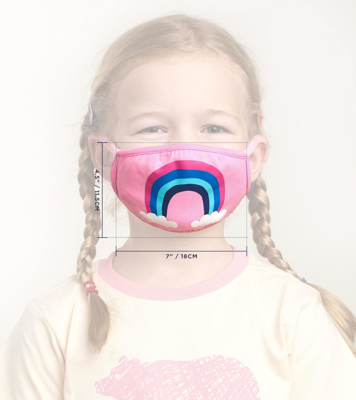 View larger image of Non-Medical Reusable Youth Face Mask (ages 6-10) - Rainbow