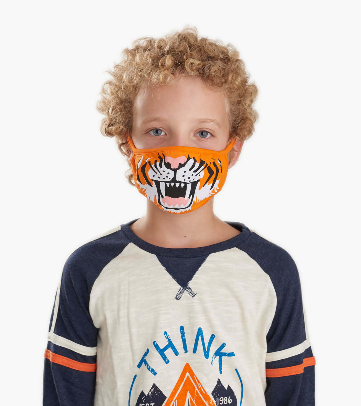 View larger image of Non-Medical Reusable Youth Face Mask (ages 6-10) - Tiger