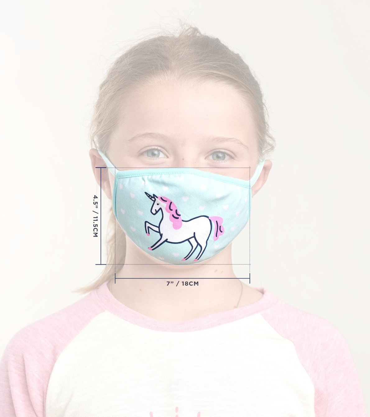 View larger image of Non-Medical Reusable Youth Face Mask - Unicorn