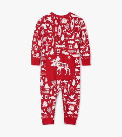 Oh Canada Baby Union Suit