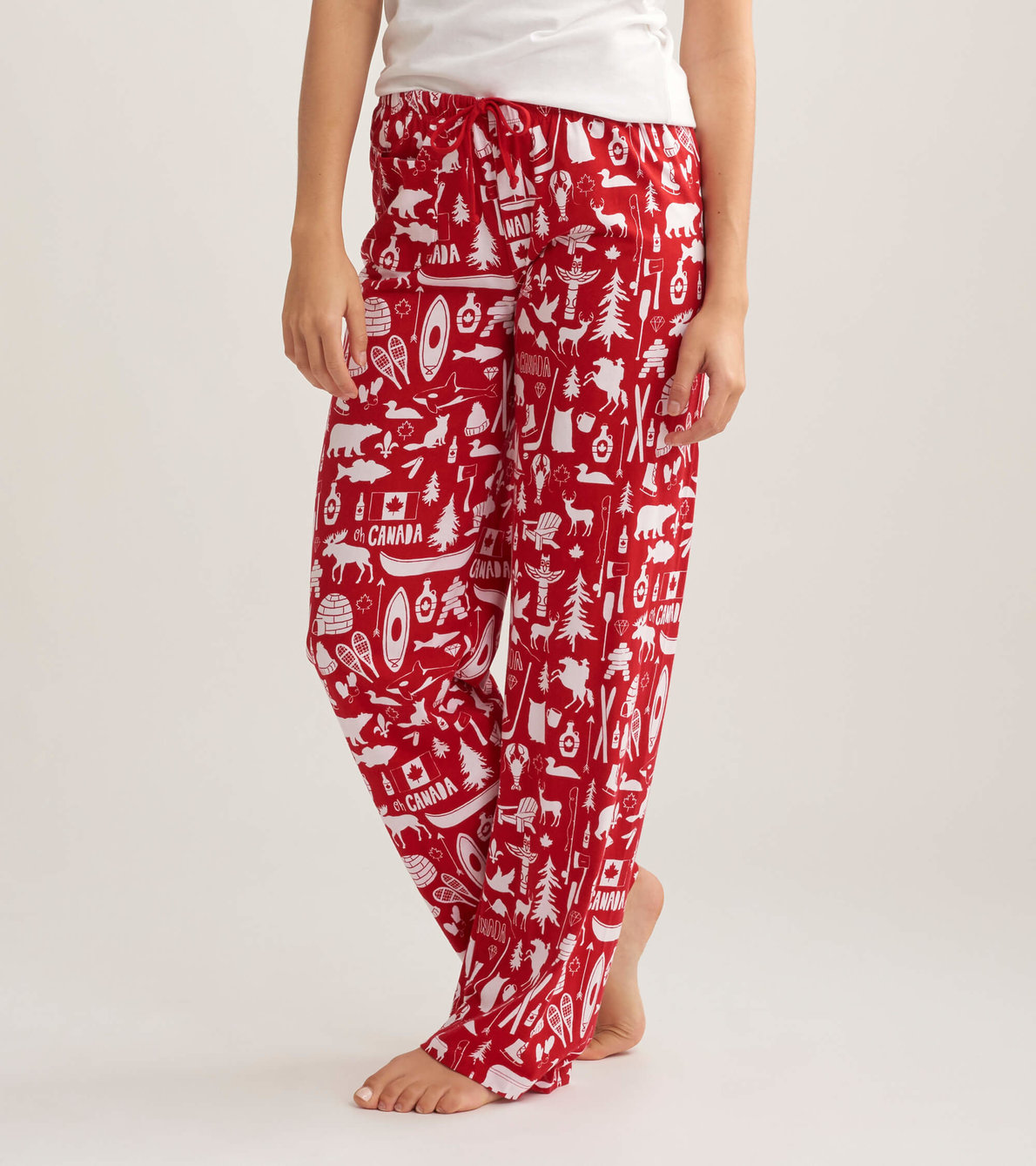 View larger image of Oh Canada Women's Jersey Pajama Pants