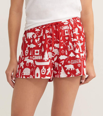 Oh Canada Women's Sleep Shorts