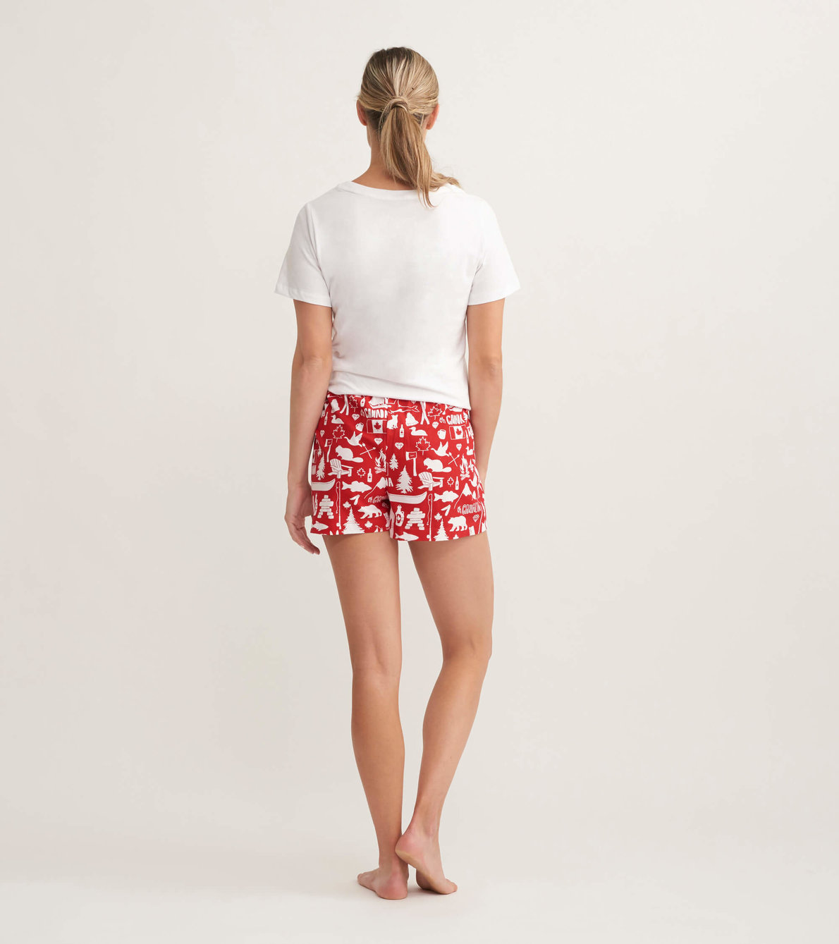 View larger image of Oh Canada Women's Tee and Shorts Pajama Separates
