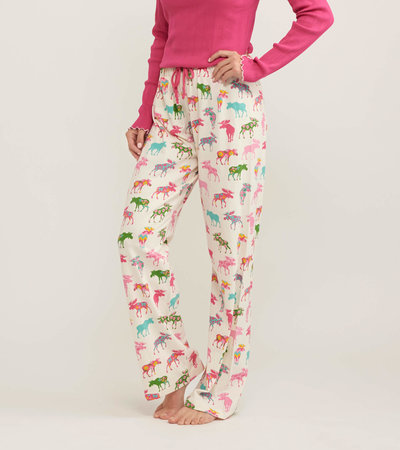 Patterned Moose Women's Pajama Pants