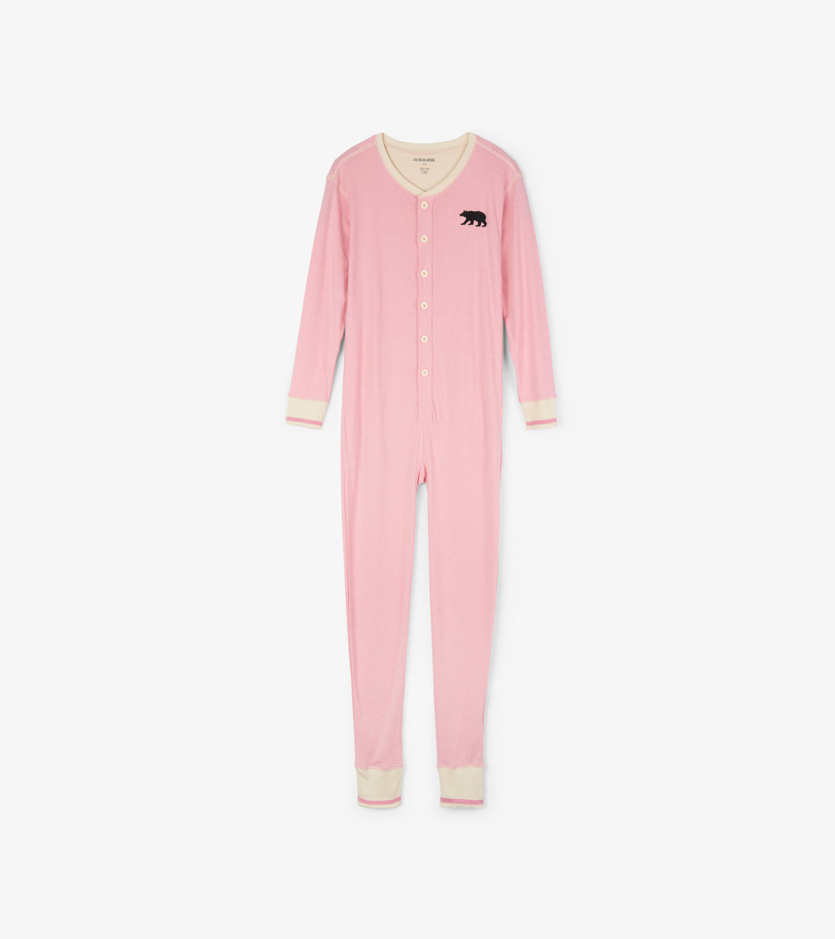 View larger image of Pink Bear Bum Adult Union Suit