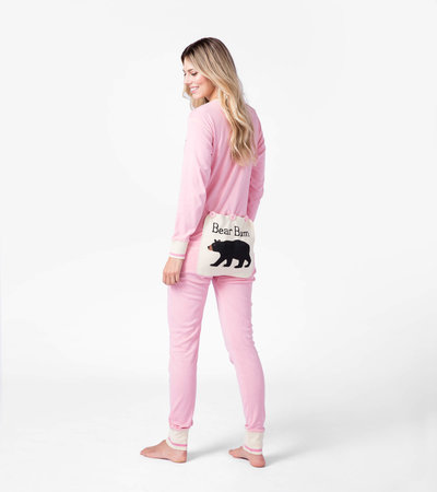 Pink Bear Bum Adult Union Suit