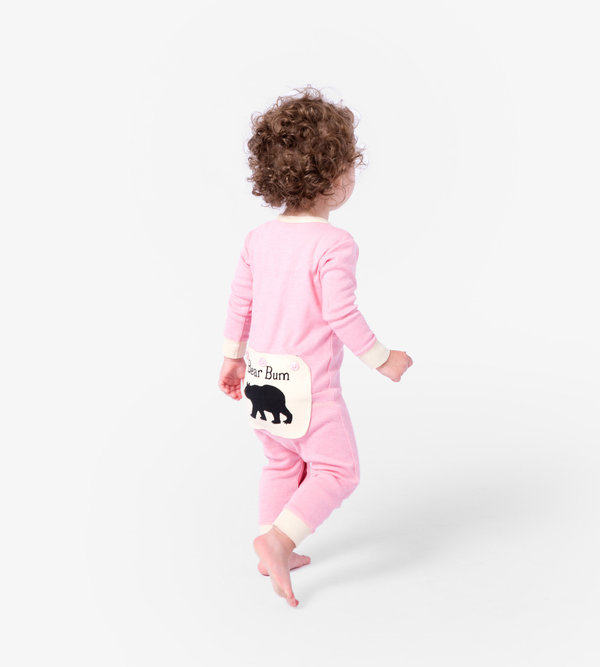 Pink Bear Bum Baby Union Suit
