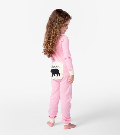 Pink Bear Bum Kids Union Suit