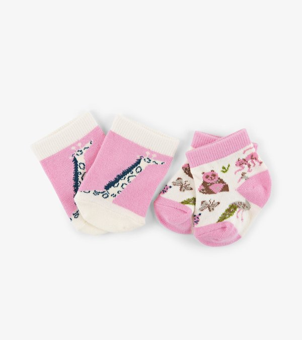 Pretty Animal Safari 2-Pack Baby Socks