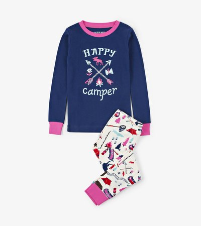 Pretty Sketch Country Kids Appliqué Pajama Set