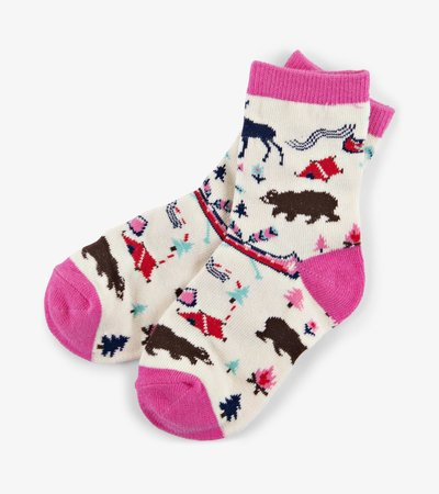Pretty Sketch Country Kids Crew Socks
