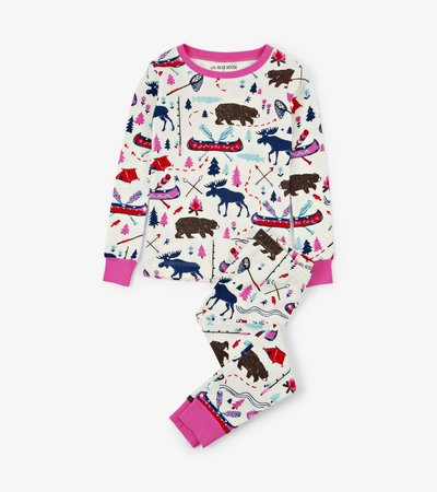 Pretty Sketch Country Kids Pajama Set