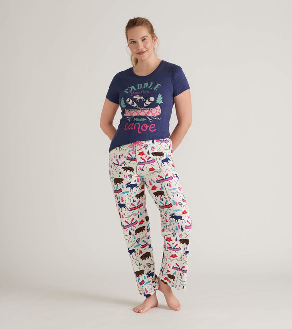 Pretty Sketch Country Women's Tee and Pants Pajama Separates