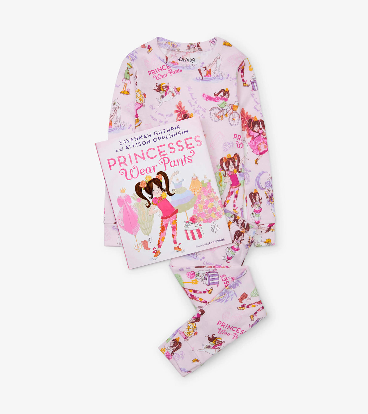 View larger image of Princesses Wear Pants Book and Pajama Set