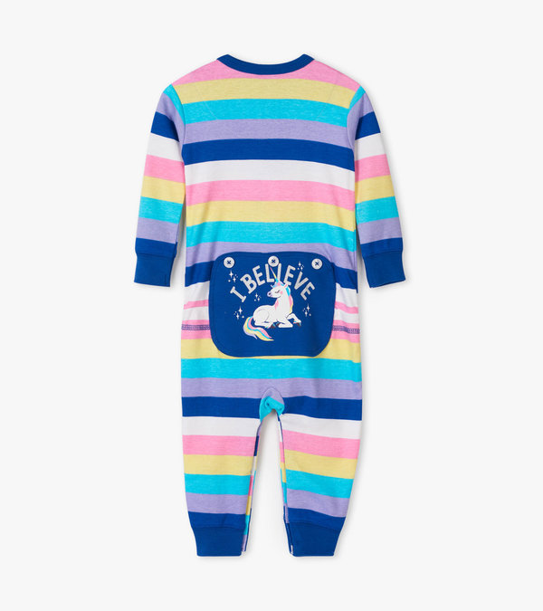 Rainbow Unicorns Baby Union Suit