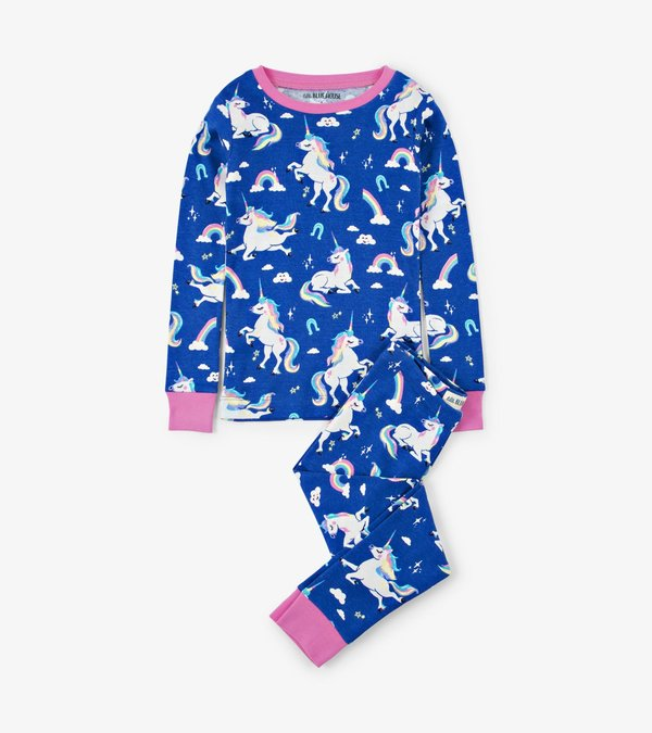Rainbow Unicorns Kids Pajama Set