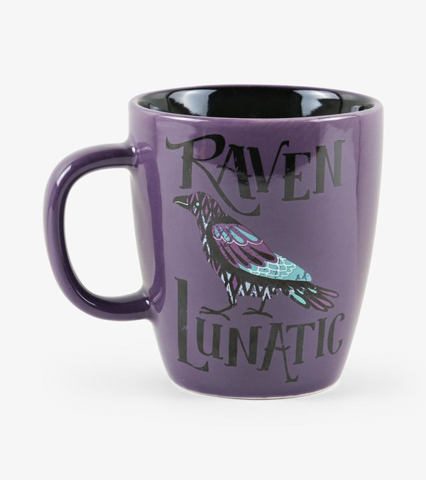 Raven Lunatic Curved Ceramic Mug