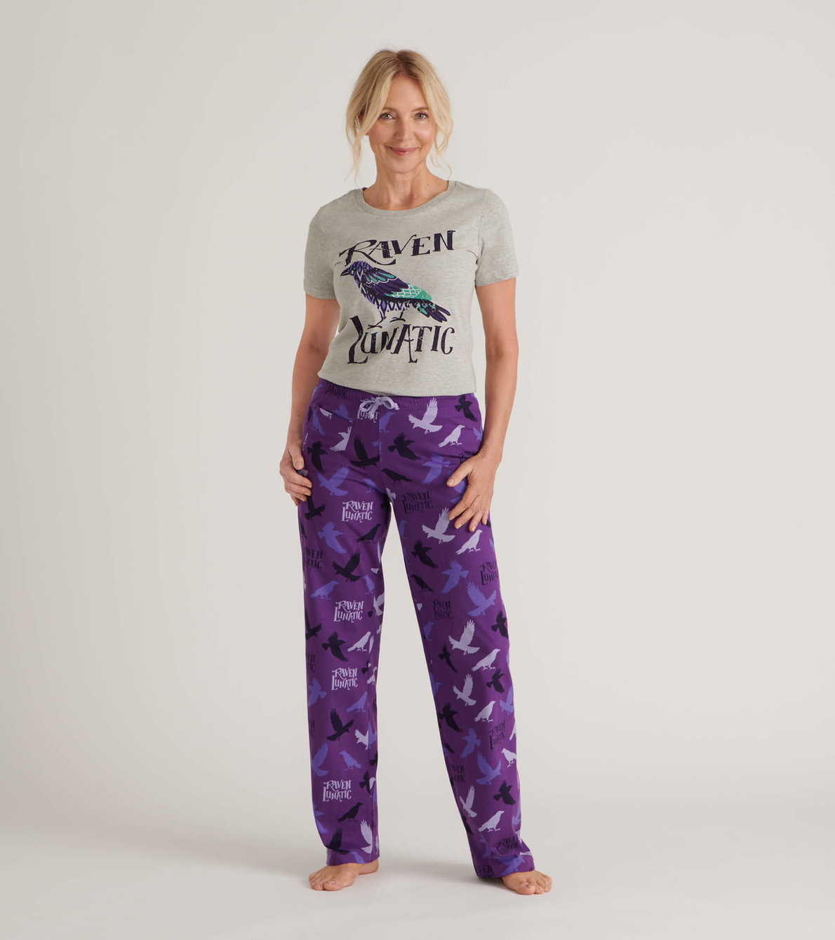 View larger image of Raven Lunatic Women's Tee and Pants Pajama Separates