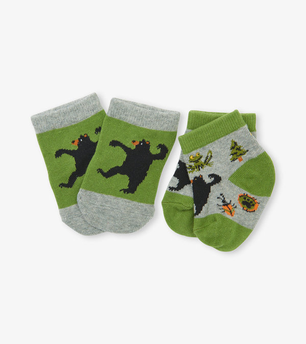 Retro Camping 2-Pack Baby Socks