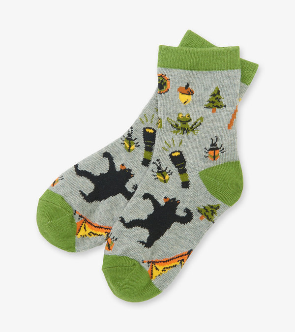 Retro Camping Kids Crew Socks