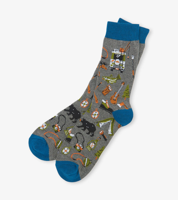 Retro Camping Men's Crew Socks