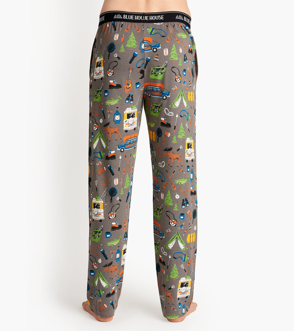 View larger image of Retro Camping Men's Jersey Pajama Pants