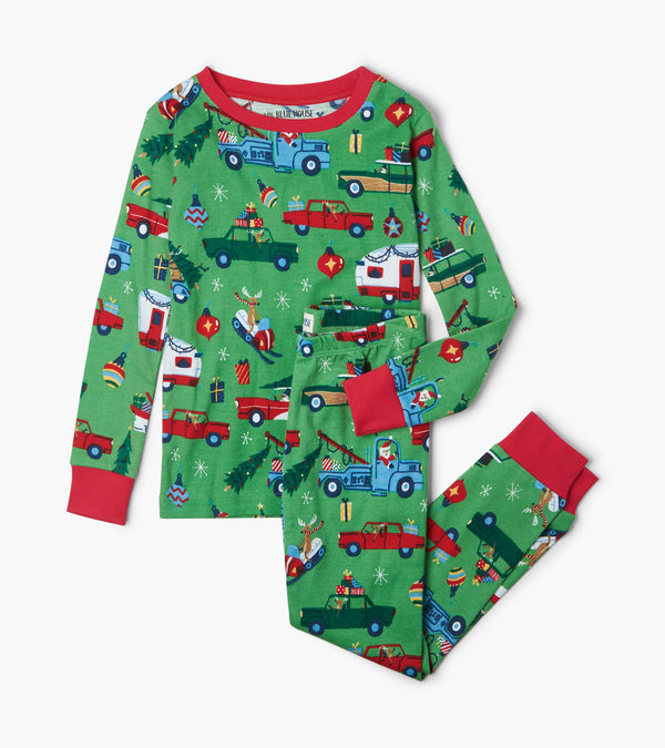 Retro Christmas Kids Pajama Set