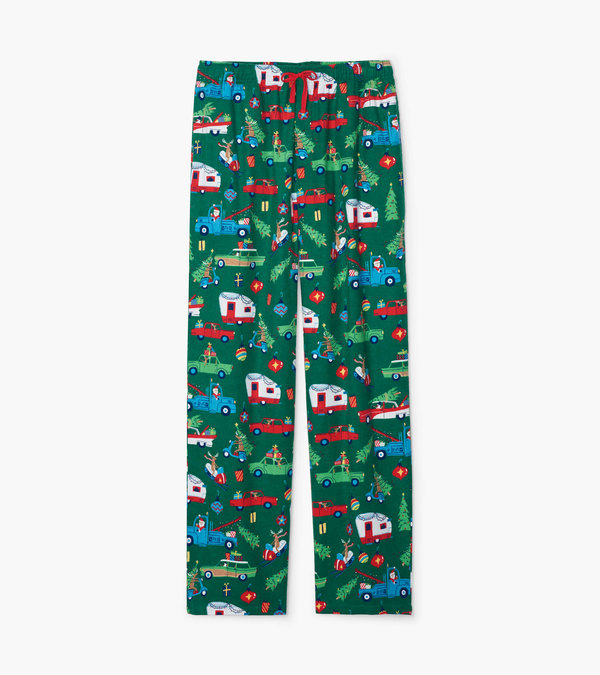 Retro Christmas Men's Flannel Pajama Pants