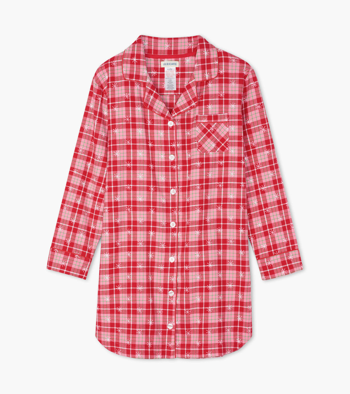 View larger image of Retro Christmas Plaid Women's Flannel Nightdress