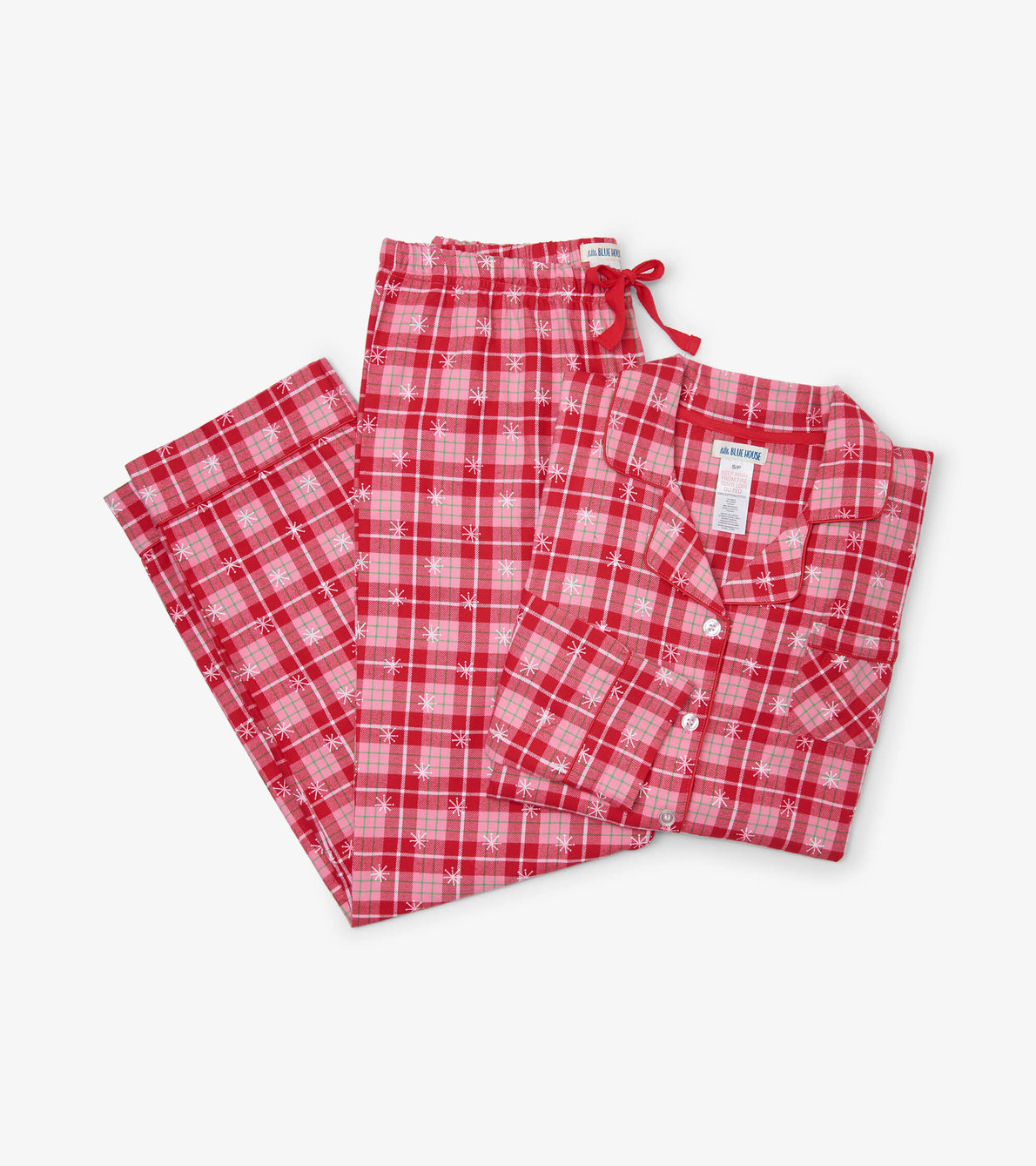 View larger image of Retro Christmas Plaid Women's Flannel Pajama Set
