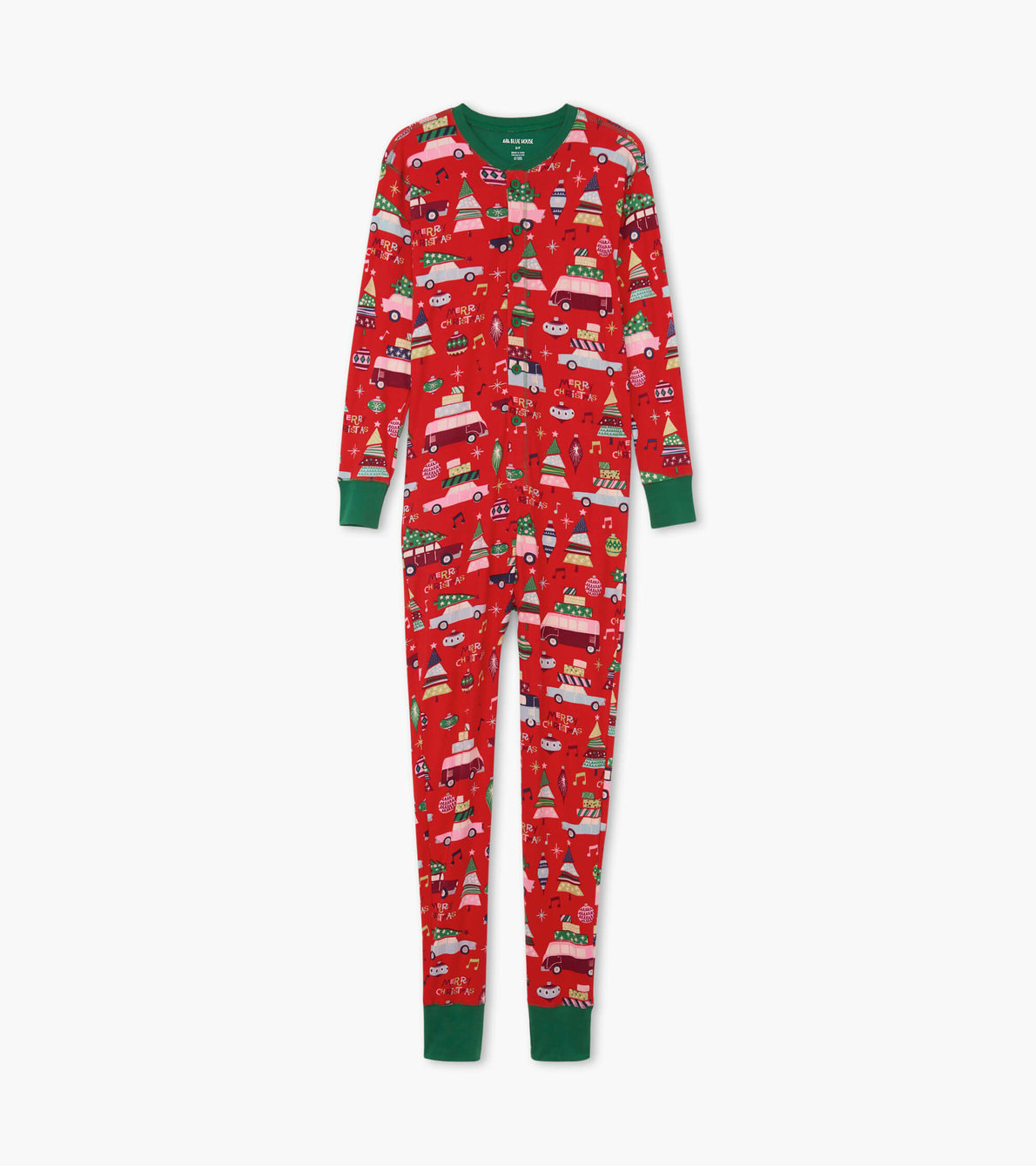 View larger image of Retro Festive Red Adult Union Suit