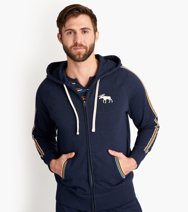Retro Moose Men's Heritage Full Zip Hoodie