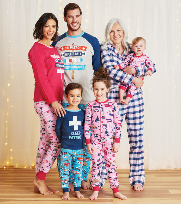 Ski Holiday Family Pajamas