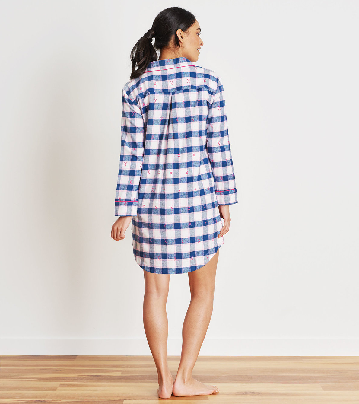 View larger image of Ski Holiday Plaid Women's Flannel Nightdress