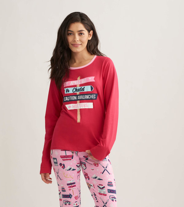 Ski Holiday Women's Long Sleeve Pajama Tee